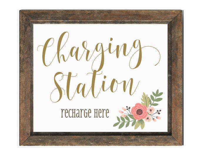 Charging Station Wedding Sign | Wedding Charging Bar Sign | Instant Download | DIY PRINTABLE