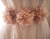 Romantic Vintage Chic Shades Of Pink Bridesmaid Wedding Sash Belt OOAK From SincerelyRaven on Etsy