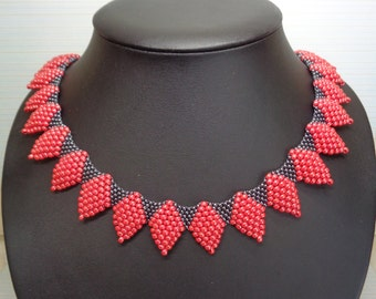 Pattern adora necklace, beading pattern, jewelry pattern, necklace pattern, miyuki pattern, pdf tutorail, jewelry tutorial, necklace pattern