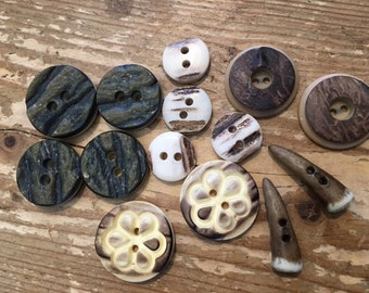 Antler Button Assortment