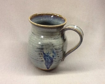 Large mug with opal glaze.