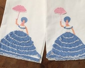 Big Sale Vintage Pillowcases Pair, Crochet Southern Belle, Lace