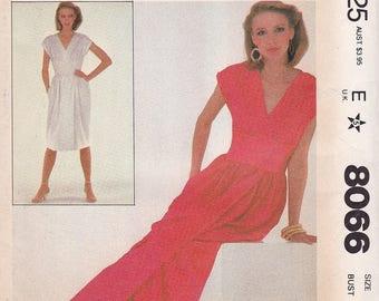 McCalls Make it Tonight 8066 Halston Evening Dress