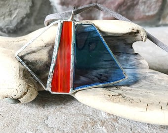 Statement Stained Glass Necklace Pendant