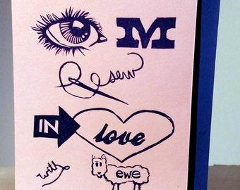 Eye M Sew in Love w/ Ewe