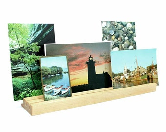 Picture Display, Photo Display, Multiple Picture Display, Wooden Photo Holder, Postcard Holder, Print Display, Keepsake Stand, Photo Display