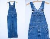 70s Overalls Indigo Denim Workwear Overalls W 34