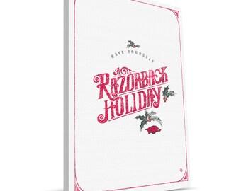 Arkansas Razorback 8x12 Merry Christmas Canvas Print