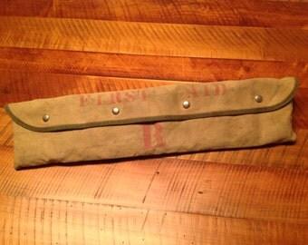 Vintage WWII Shoulder Strap Or Belt First Aid Kit.