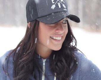 """SALE- Arrows """"LOVE"""" Alaska Trucker hat"""