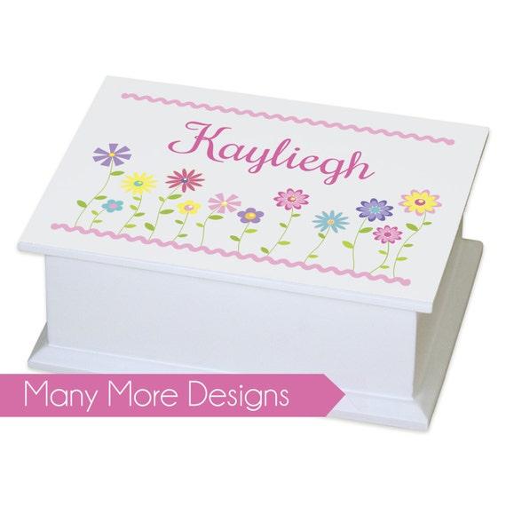 Personalized Jewelry Box girls basic white jewelry box with