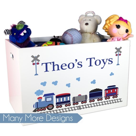 Personalized Toys For Boys : Personalized toy box boys custom toybox childs open top