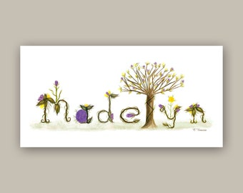 Baby name gift etsy name sign custom baby name gifts baby nursery name sign personalized nursery name sign negle Images