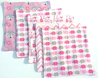 SALE CLEARANCE, Baby Wipes, Set of 5 Cloth Diaper Wipes Gift Set, Baby Cloth Wipes, Reborn Accessories, Baby Shower Gift, Family Cloth
