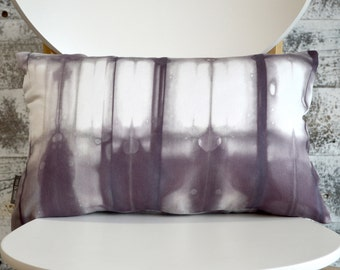 12x18 inch Modern Shibori Dyed Pillow Cover in Agate