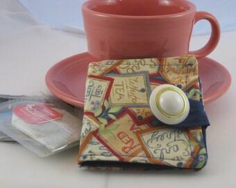 Tea Fabric Tea Wallet
