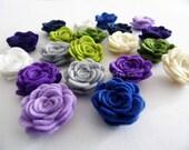 Flores de fieltro, set de 20 piezas, Figuras Fieltro, Aplique, Confetti, Decoración Fiestas, DIY Bodas