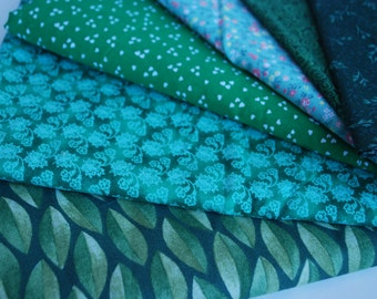 One Pound GREEN Fabric Scraps -- Green-- cotton fabric