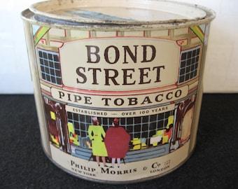 Vintage Bond Street Pipe Tobacco Tin
