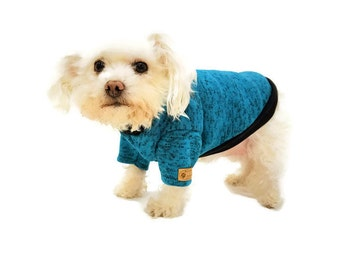 Teal Dog Sweater-Dog Sweaters-Dog Clothes- Dog Clothing-Dog Apparel-Sweaters for Dogs-Dog Sweatshirt-Dog Jumpers-Shirts for Dogs-Dog Shirts
