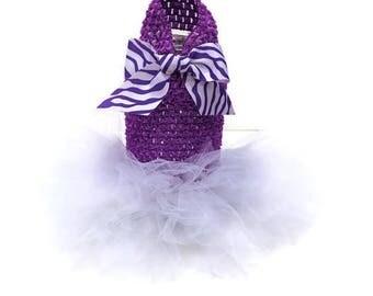 Cat Tutu-Purple and White Cat Tutu-Tutu Dresses for cats -Purple Cat Dress-Cat Clothes-Cat Dress-Cat Clothing-Cat Wedding-White Cat tutu