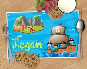 Pirate - Kids Personalized Placemat, Customized Placemats for kids, Kids Placemat, Personalized Kids Gift