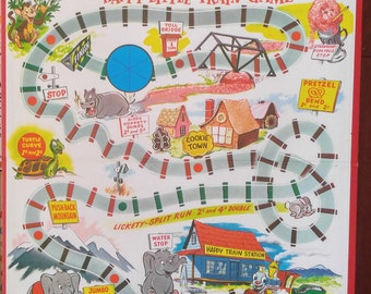 board game- children's nursery- train- happy little train game