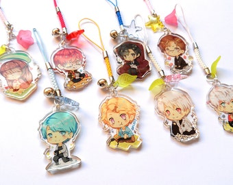 Mystic Messenger clear acrylic charms