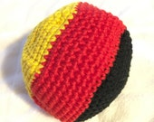 Colorful Rainbow HACKY SACK  Juggling ball Cat Toy Bean Bag Foot Bag, Red, Black, Yellow