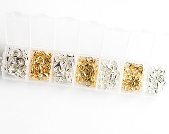140 Lobster Claps - Gold and Silver - Assorted - 6x10mm 7x12mm and 8x14mm - Ships IMMEDIATELY from California - CASE34