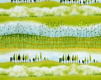 Quilting Treasures - SANTORO - The Traveller - Landscape Scenic Stripe
