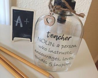 Teacher gift, Personalized soap dispenser, hand soap, sanitizer, teacher gift, teacher appreciation, hostess gift, realtor gift, party favor