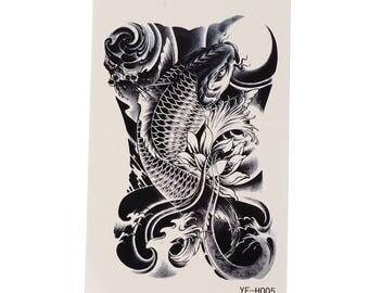Koi Tattoo Sheet Large - 1 Pc