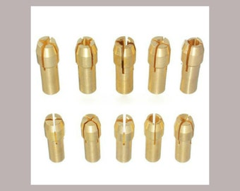 Drill Bits, Rotary Tool, Collet bits, Chuck Collet Bits, Brass Drill Bits, 0.5 up to 3.2 mm, Brass Bits, Jewelry Tool, Drilling Tool, Drill