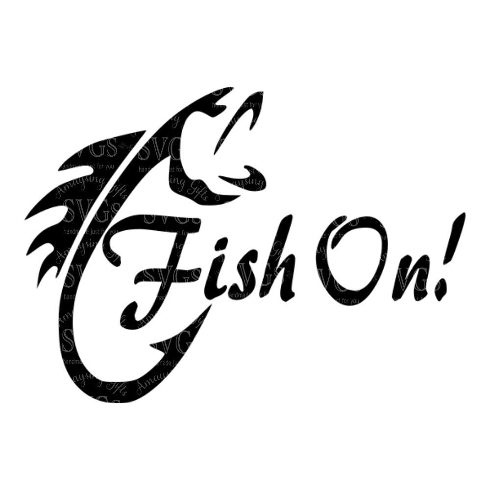 Svg fish on fishing fishing decal fishing design for Free fishing stickers