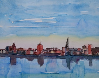 Rostock Germany Harbour View in Baltic Sea - Limited Edition Fine Art Print