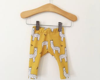 Mustard Alpaca Baby and Toddler Leggings