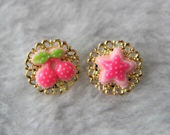 Kawaii Gold Pin Set