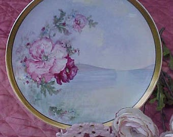 Beautiful and Rare Artist Signed Hand Painted Antique Haviland Limoges Porcelain Plate