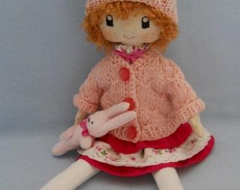 Textile Doll Emma, soft doll, rag doll
