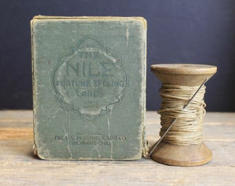 Antique Nile Fortune Telling Cards // Original Box // 51 Cards // Victorian Parlor Game // Phinxes Pyramids