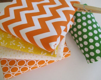 Fabric Bundle - Quilting Fabric Bundle - Fabric by the Yard - 1/2 Yard Ea - Total 2.5 Yards