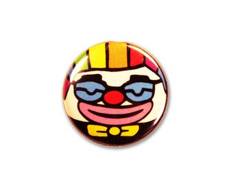 1 Inch Pinback Button Original - Rumblabs the Clown