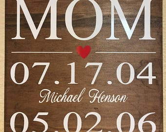 My Greatest Blessing Call Me Mom Handmade Wood Sign for Mother's Day