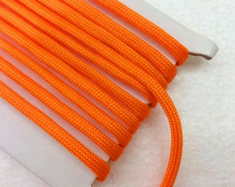 Bracelet cord 1.1 Yards (1 meter) orange paracord cord, Decorative Cord, braided cords, Parachute  Cord, Colorful cord, 4mm wide