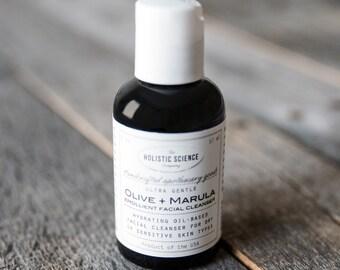 Olive+Marula Emollient Cleansing Oil for normal, dry or sensitive skin.  100% Vegan, paraben-free, sulphate-free & fragrance-free.