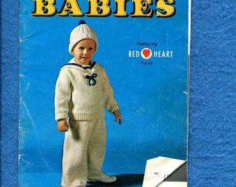 Vintage 1960's Coats & Clark Knitted Crocheted Baby Clothes Booklet 200