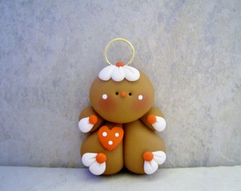 Gingerbread Man - Polymer Clay - Christmas - Holiday Ornament