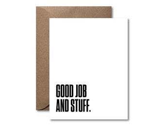 Good Job and Stuff  |  Letterpress Congratulations Card