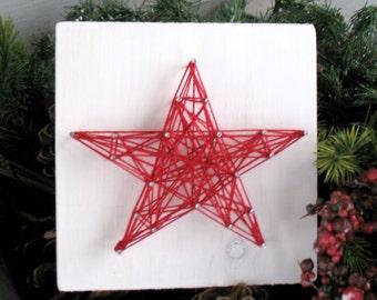 Start String Art - Christmas Star - Christmas String Art - Shelf Sitter